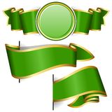 Green round frame with ribbon Royalty Free Stock Photo