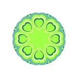 Green round mandala Stock Photos