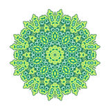 Green round mandala. Royalty Free Stock Photography