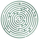Green round maze against white Stock Image