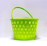 Green round-shaped multipurpose basket Stock Photo