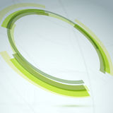 Green round spin element abstract background Royalty Free Stock Photography