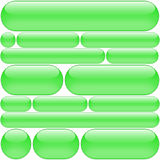 Green rounded buttons Royalty Free Stock Photo