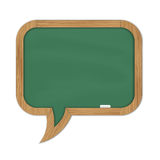 Green rounded chalkboard Royalty Free Stock Photos