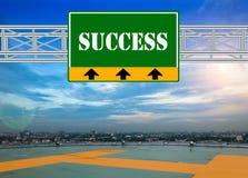 Green Route Sign concept Stock Photos