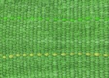 Green row cloth. Close up of raw green cloth. It is made through weaving Royalty Free Stock Photos