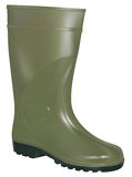 Green rubber boot Royalty Free Stock Images