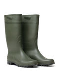 Green rubber boots Royalty Free Stock Images