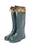 Green rubber boots Royalty Free Stock Photos