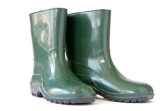 Green rubber boots Stock Image