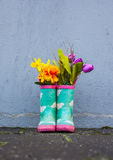 Green Rubber Boots Stock Images