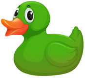 A green rubber duck Stock Images