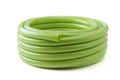 Green rubber tube Royalty Free Stock Images