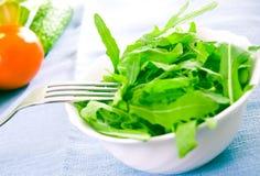 Green rucola fresh salad Royalty Free Stock Images