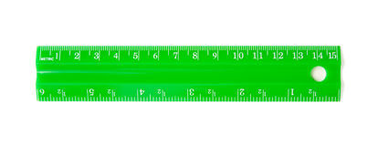 Green ruler royalty free stock photo