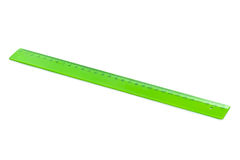 Green ruler Royalty Free Stock Images