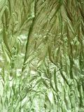 Green rumple fabric Royalty Free Stock Image