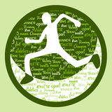 Green runner icon Stock Photography