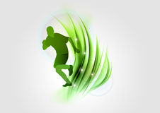 Green runner Royalty Free Stock Images