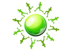 Green runners Royalty Free Stock Images