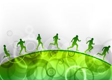 Green running Stock Images