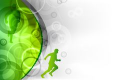 Green running Royalty Free Stock Photo