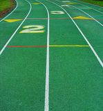 Green  Running Track Stock Image