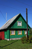 Green Russian Village House Royalty Free Stock Photo