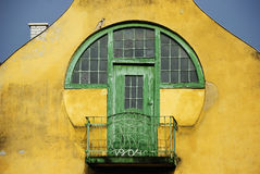 Green rustic balcony Royalty Free Stock Photography