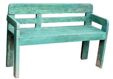 Green rustic bench Royalty Free Stock Image