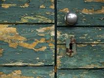 Green rustic door Royalty Free Stock Images