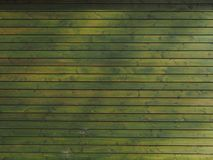 Green rustic wooden wall Stock Image