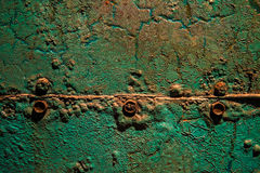 Green rusty metal Stock Photography