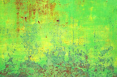 Green rusty tin Royalty Free Stock Photography