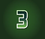 Green 80's Retro Sci-Fi Font with Stars Inside Letters. Alphabet Royalty Free Stock Photography