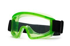 Green safety eye shields Royalty Free Stock Image