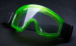 Green safety eye shields Stock Images