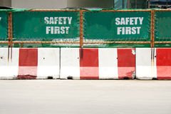 Green safety first sign Stock Image
