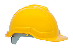 Green safety helmet on white background Royalty Free Stock Image