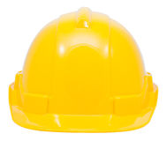 Green safety helmet on white background Royalty Free Stock Photo