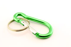 Green safety hook Royalty Free Stock Photos