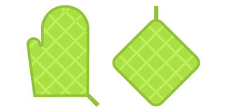 Green Safety kitchen Potholder vector illustration