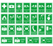 Green safety sign Royalty Free Stock Photos