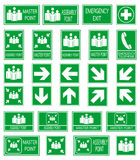 Green safety sign Royalty Free Stock Image