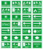 Green safety sign Stock Photo