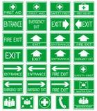 Green safty sign Stock Photos