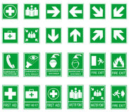 Green safty sign Stock Photo