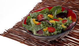 Green salad. Fresh green salad mix in bowl Stock Image