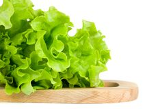Green salad. Leaves on chopping board Royalty Free Stock Photo