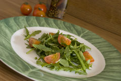 Green salad. On a plate Royalty Free Stock Photos